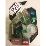 """STAR WARS ACTION FIGURE 3.75 """" - 9 cm LUKE SKYWALKER 30 years anniversary edition with exclusive collector coin"""