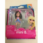 BARBIE MINI B FASHION RING SERIE PACKAGE n° 511 MATTEL T 5770 BLACK AIR WITH LIGHT PINK SHIRT - BLUE & PINK SKIRT