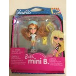 BARBIE MINI B FASHION RING SERIE PACKAGE n° 501 MATTEL T 5766 RED AIR WITH BLUE & WHITE SHIRT - YELLOW SHORTS