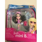 BARBIE MINI B FASHION RING SERIE PACKAGE n° 500 MATTEL T 5765 BLACK AIR WITH PINK SHIRT - BLUE SKIRT