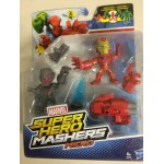 MARVEL SHUPER HERO MASHERS MICRO IRON MAN vs ULTRON 2 figures pack B6690