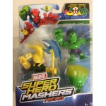 MARVEL SUPER HERO MASHERS MICRO HULK VS LOKI 2 figures pack B6688