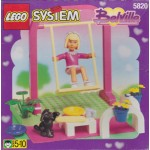 LEGO SYSTEM BELVILLE 5820 GIRL ON SWING damaged box
