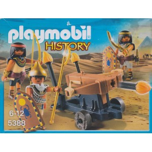 PLAYMOBIL HISTORY 5388 EGYPTIAN TROOP WITH T BALLISTA