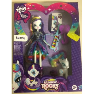 MY LITTLE PONY EQUESTRIA GIRLS RARITY DOLL AND PONY SET and accesories Hasbro A6776