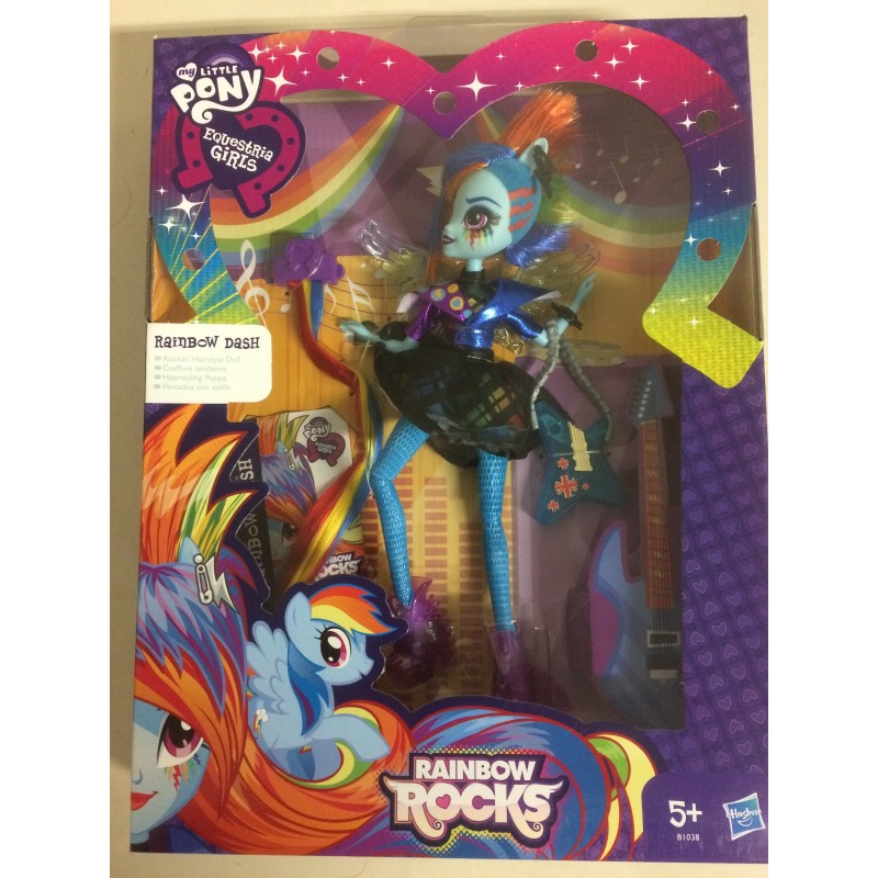 MY LITTLE PONY EQUESTRIA GIRLS RAINBOW DASH And Accesories Hasbro B1038 -  AQUARIUS AGE SAGL - Toys