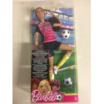 BARBIE MADE TO MOVE BRUNETTE FOOTBALL PLAYER mattel FCX 82