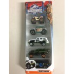 MATCHBOX JURASSIC WORLD 1:64 Vehicle CJM 06 JUNGLE PACK 5 vehicles Pack DFW19