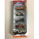 MATCHBOX JURASSIC WORLD 1:64 Vehicle CJM 07 DESERT PACK 5 vehicles Pack DFW19