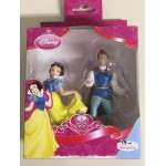 SNOW WHITE & PRINCE Bullyland 12235 handpainted 2 action figures set Disney