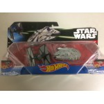 HOT WHEELS STAR WARS STARSHIP double pack FIRST ORDER TIE FIGHTER VS MILLENIUM FALCON Mattel CGW95