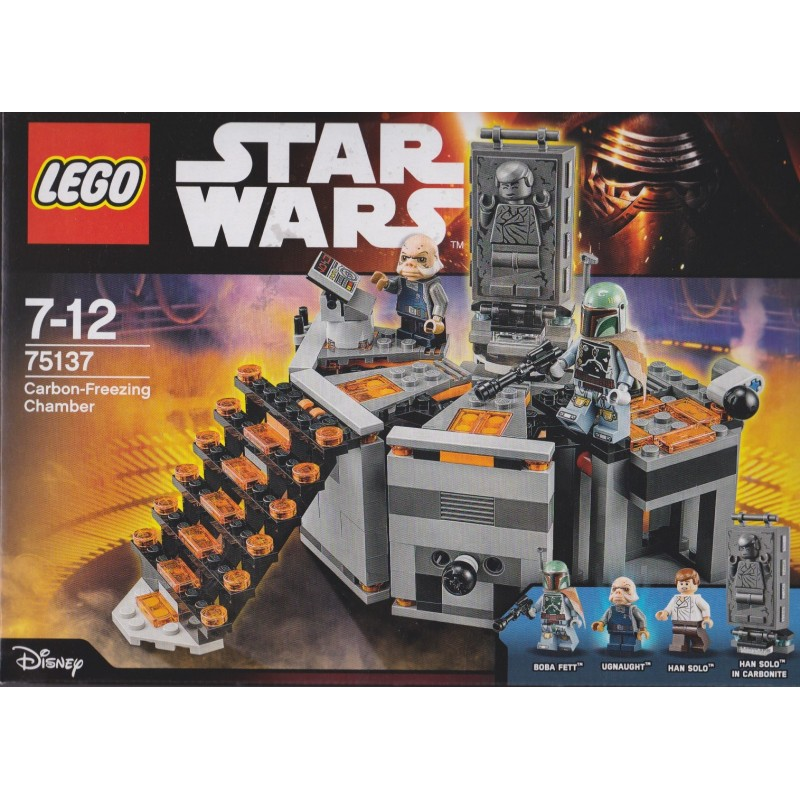 LEGO Star Wars Han Solo Minifig Minifigure and Carbonite from 75137