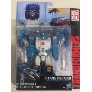 Transformer Titans Return Deluxe Class Freezeout and Autobot Topspin