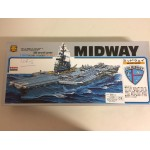 plastic model kit scale 1 : 800 ARII A128-1800 USS AIRCRAFT CARRIER MIDWAY new in open and damaged box