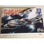 plastic model kit scale 1 : 72 ITALERI N° 049 MESSERSCHMITT BF 110 C3/ C4 ZERSTORER new in open box