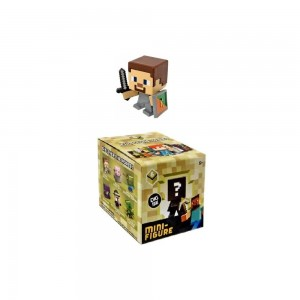 Minecraft 2.5 cm action figure Serie 6 STEVE WITH SHIELD Single Mini Figure NEW in opened box