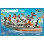 PLAYMOBIL CITY ACTION 5540 COAST GUARD RESCUE BOAT WITH WATER HOSE