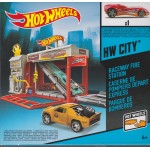 HOT WHEELS HW TRACK BUILDER RACEWAY FIRE STATION Mattel BGT81
