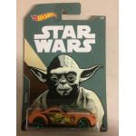 HOT WHEELS - STAR WARS CHARACTER CAR YODA / BARBARIC single vehicle package FKD60