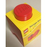 LEGO STORAGE BRICK 4001 1 KNOB ROSSO NEW STILL SEALED 125 x 125x 180 mm