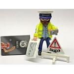PLAYMOBIL FI?URES 9332 SERIE 13 TRAFFIC CONTROLLER