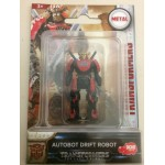 "TRANSFORMERS ACTION FIGURE 2"" - 5 cm METAL AUTOBOT DRIFT ROBOT Hasbro Dickie toys"