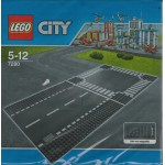 LEGO CITY 7280 PIASTRE BASE CON RETTILINEO ED INCROCIO