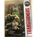 "TRANSFORMERS ACTION FIGURE 5,5"" - 15 cm AUTOBOT HOUND Hasbro C2357 THE LAST KNIGHT PREMIER EDITION DELUXE CLASS"