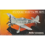 plastic model kit scale 1 : 72 HELLER HUMBOROL 80235 FOCKE WULF FW 190 A8/F3 new in open  & damaged box