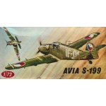 plastic model kit scale 1 : 72 KOVOZAVODY PROSTEJOV AVIA S- 199 new in open box