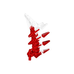 LEGO USED BIONICLE REPLACEMENT PART 61807 WEAPON 13.08 MULTICOLOR RED / WHITE