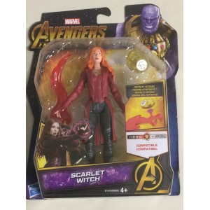 "MARVEL AVENGERS INFINITY WAR ACTION FIGURE 6"" - 15 cm SCARLET WITCH Hasbro E 1419"