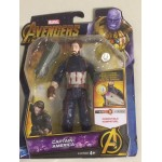 "MARVEL AVENGERS INFINITY WAR ACTION FIGURE 6"" - 15 cm CAPTAIN AMERICA Hasbro E 1407"