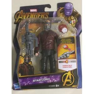 "MARVEL AVENGERS INFINITY WAR ACTION FIGURE 6"" - 15 cm STAR LORD Hasbro E 1413"