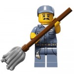 LEGO MINIFIGURES 71011 09 JANITOR SERIE 15