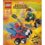 LEGO SUPER HEROES 76089 damaged box MIGHTY MICROS SCARLET SPIDER VS SANDMAN