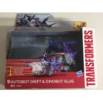 TRANSFORMERS DINO SPARKERS action figure AUTOBOT DRIFT & DINOBOT SLUG age of extinction Hasbro A7681