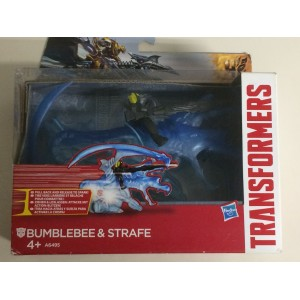 TRANSFORMERS DINO SPARKERS action figure BUMBLEBEE & STRAFE age of extinction Hasbro A6495