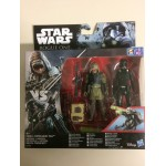 "STAR WARS 3.75"" - 9 cm ACTION FIGURE REBEL COMMANDO PAO vs IMPERIAL DEATH TROOPER double pack Hasbro B7259"