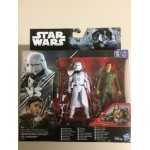 "STAR WARS 3.75"" - 9 cm ACTION FIGURE FIRST ORDER SNOWTROOPER vs POE DAMERON double pack Hasbro B8612"