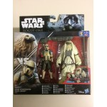 "STAR WARS 3.75"" - 9 cm ACTION FIGURE MOROFF vs SCARIF STORMTROOPER SQUAD LEADER double pack Hasbro B7261"