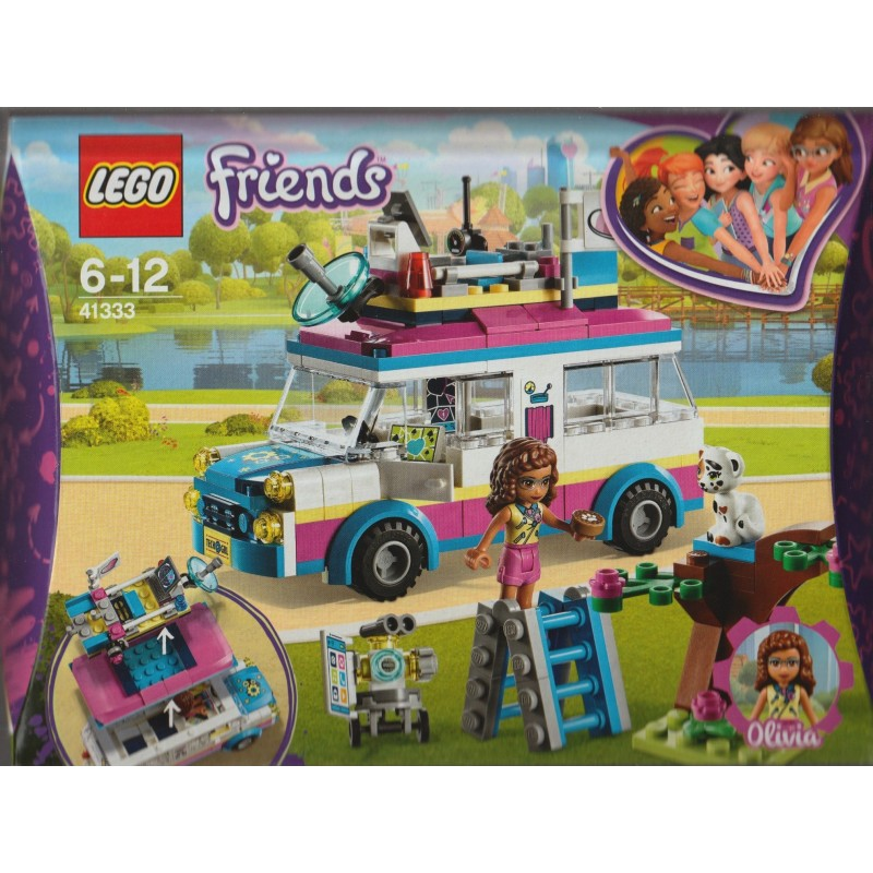 Olivia Mini Doll and Truck Fun LEGO 41333 Friends Heartlake Mission Toy Vehicle