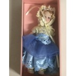 "DOLL'S HOUSE COLLECTION 33 5"" DOLL WITH BLUE - LIGHT BLUE AND WHITE DRESS"