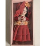 "DOLL'S HOUSE COLLECTION 08 5"" DOLL WITH RED DRESS"