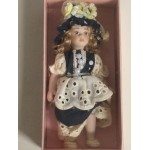 """DOLL'S HOUSE COLLECTION 07 5"""" DOLL WITH DARK BLUE DRESS DRESS"""