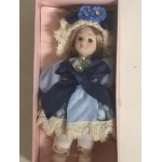 "DOLL'S HOUSE COLLECTION 07 5"" DOLL WITH BLUE AND LIGHT BLUE DRESS"