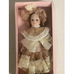 "DOLL'S HOUSE COLLECTION 13 5"" DOLL WITH LIGHT BROWN DRESS"