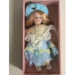 "DOLL'S HOUSE COLLECTION 13 5"" DOLL WITH LIGHT BLUE DRESS"