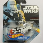 HOT WHEELS - STAR WARS CHARACTER CAR FIRST ORDER FLAMETROOPER single vehicle package DXP30 - JA10
