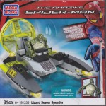 MEGA BLOKS THE AMAZING SPIDER MAN 91338 LIZARD SEWER SPEEDER